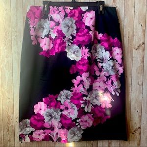 Worthington Floral Pencil Skirt